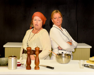 Mary Curruthers and Kristin Staton star in The Kitchen Witches, playing October 3-25 at Redlands Footlighters.