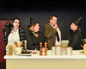 The cast of The Kitchen Witches (left to right): Eliza Bishop, Mary Curruthers Pete Bennett and Kristin Staton