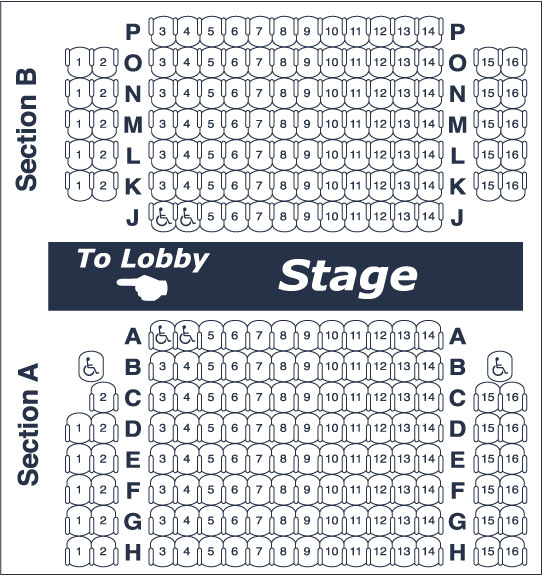 Seating chart for Redlands Footlighters